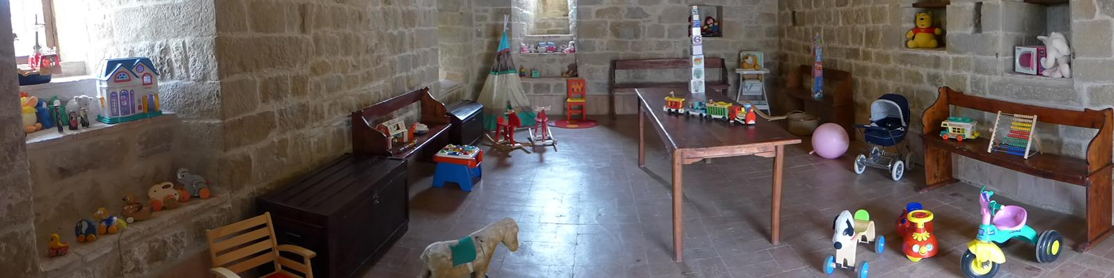 A nursery full of toys for the younger guests